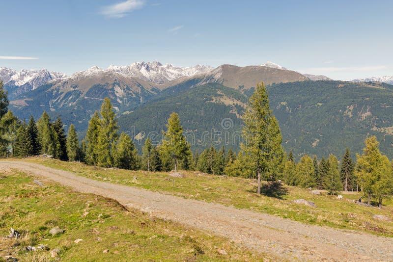 Αλπικό τοπίο σε δυτικό Carinthia, Αυστρία στοκ εικόνα με δικαίωμα ελεύθερης χρήσης