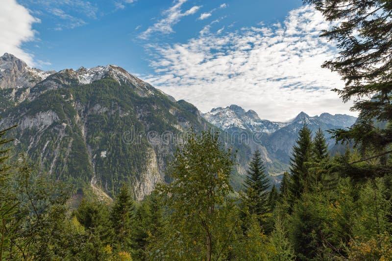 Αλπικό τοπίο σε δυτικό Carinthia, Αυστρία στοκ φωτογραφίες