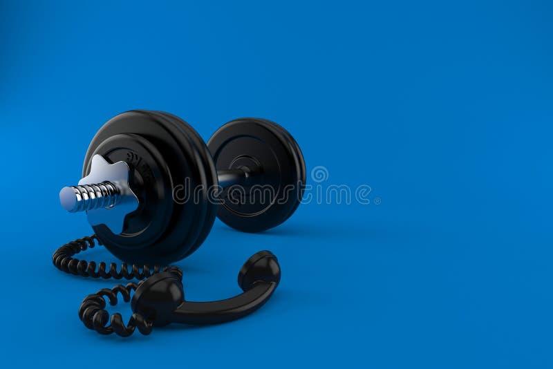 Αλτήρας με το τηλεφωνικό μικροτηλέφωνο διανυσματική απεικόνιση