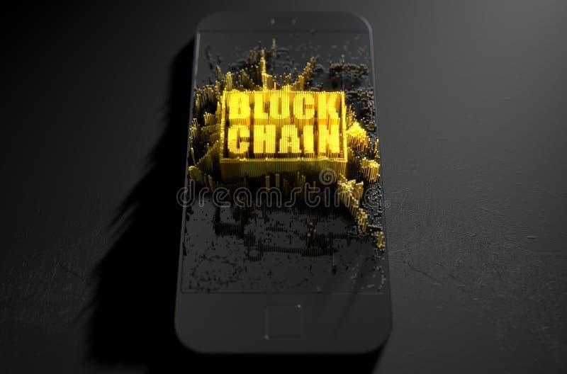Αλυσίδα Cloner Smartphone φραγμών ελεύθερη απεικόνιση δικαιώματος
