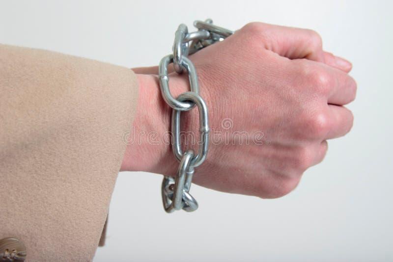 αλυσοδεμένο χέρι επάνω στοκ εικόνες με δικαίωμα ελεύθερης χρήσης