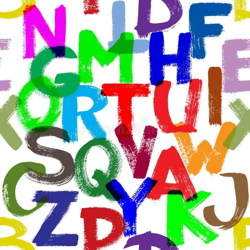 αλφάβητο άνευ ραφής απεικόνιση αποθεμάτων