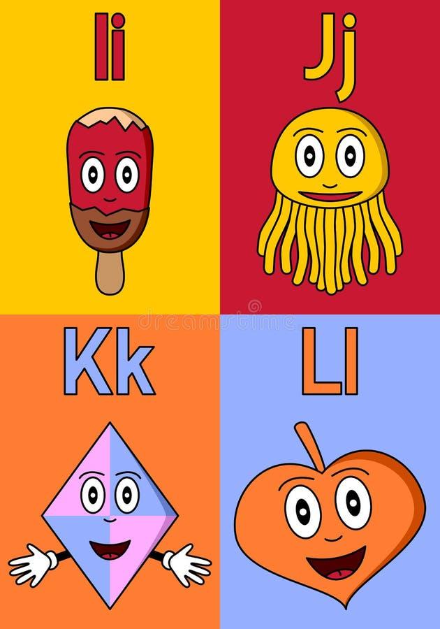 αλφάβητο ι παιδικός σταθ&mu διανυσματική απεικόνιση