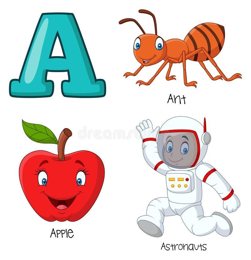 Αλφάβητο κινούμενων σχεδίων Α ελεύθερη απεικόνιση δικαιώματος