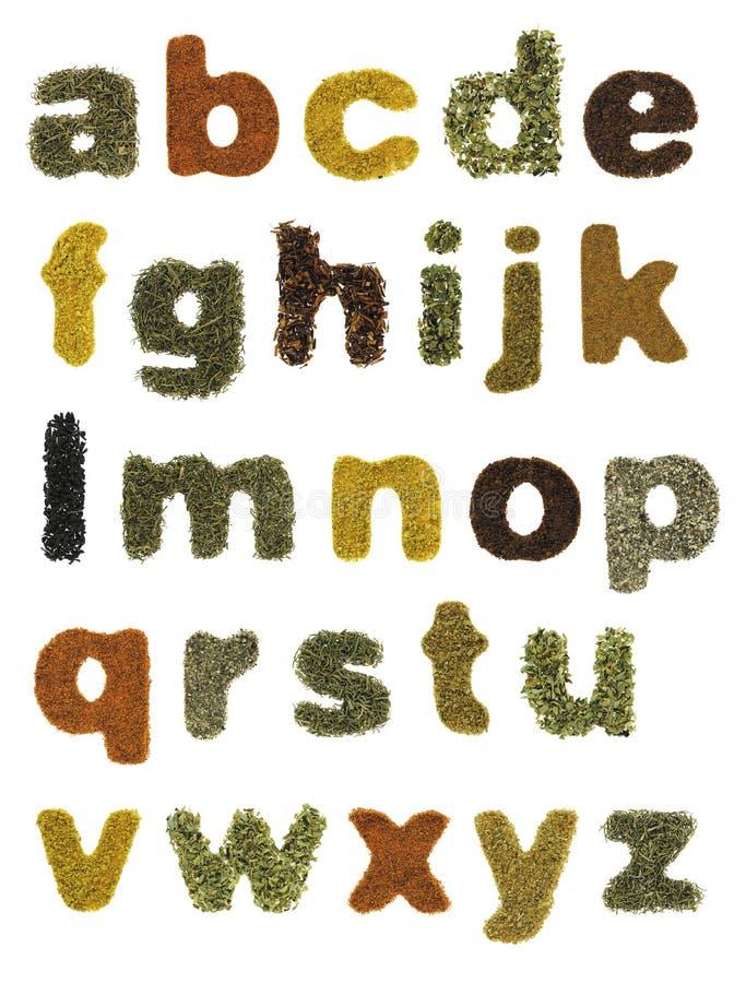 Αλφάβητο τροφίμων στοκ εικόνα με δικαίωμα ελεύθερης χρήσης