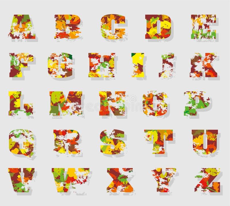 Αλφάβητο φθινοπώρου στοκ φωτογραφίες με δικαίωμα ελεύθερης χρήσης