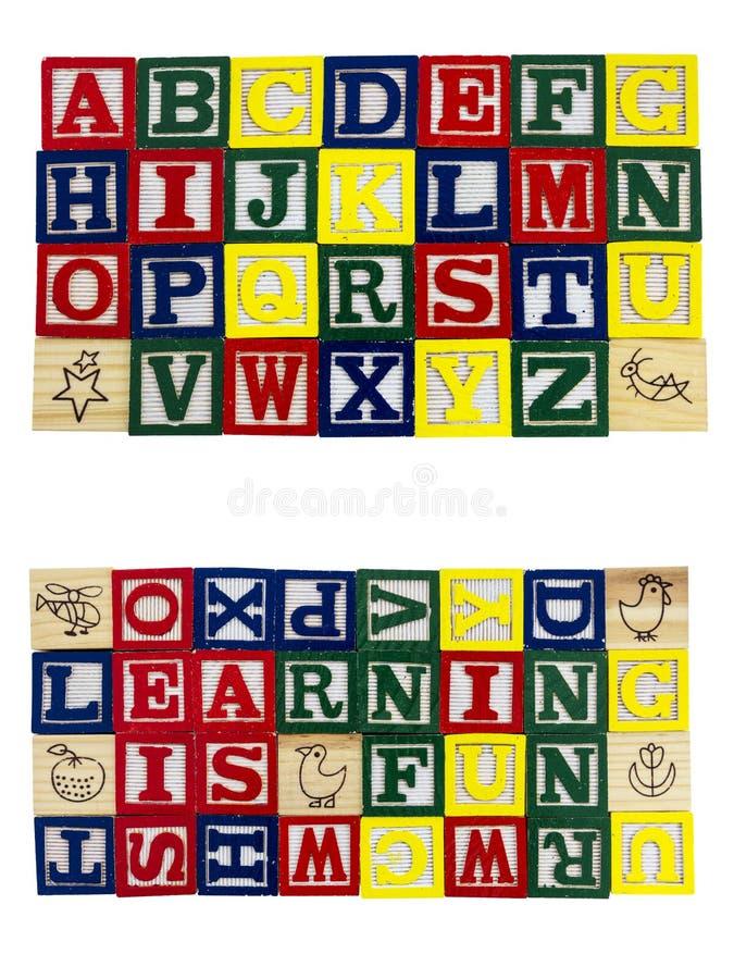 Αλφάβητο φραγμών διασκέδασης εκμάθησης στοκ εικόνες με δικαίωμα ελεύθερης χρήσης