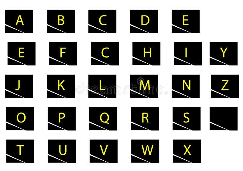 Αλφάβητο archve απεικόνιση αποθεμάτων