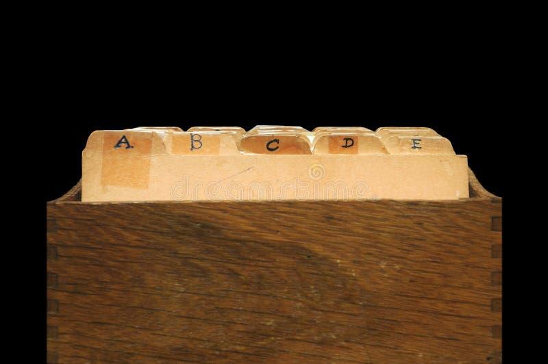 αλφαβητικό αρχείο γραφεί& στοκ φωτογραφία με δικαίωμα ελεύθερης χρήσης