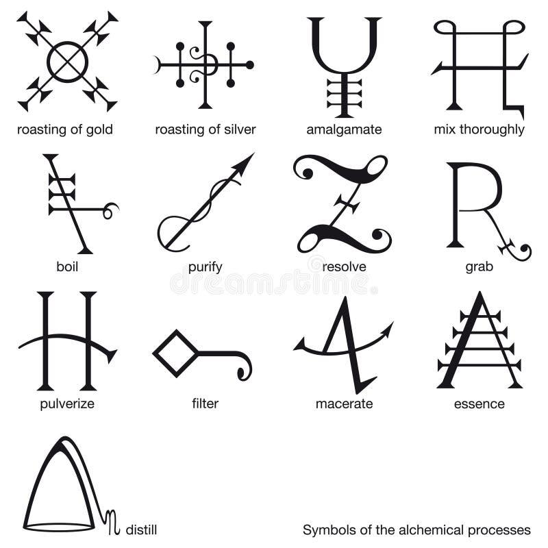αλχημικά σύμβολα απεικόνιση αποθεμάτων