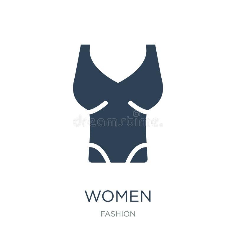 αμάνικο εικονίδιο πουκάμισων γυναικών στο καθιερώνον τη μόδα ύφος σχεδίου αμάνικο εικονίδιο πουκάμισων γυναικών που απομονώνεται  ελεύθερη απεικόνιση δικαιώματος