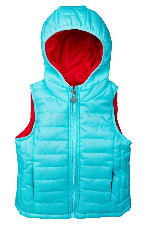 Αμάνικο μπλε φανέλλα ή σακάκι για το μικρό κορίτσι που απομονώνεται σε ένα άσπρο υπόβαθρο στοκ φωτογραφία με δικαίωμα ελεύθερης χρήσης