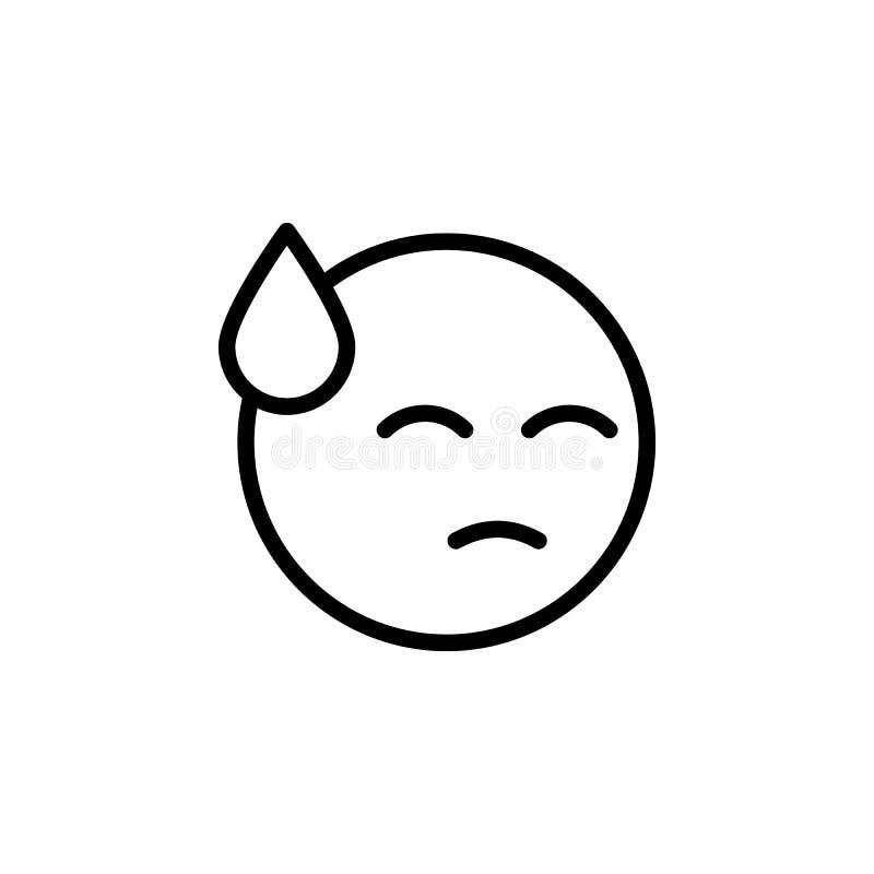 Αμήχανο εικονίδιο περιλήψεων emoji E ελεύθερη απεικόνιση δικαιώματος