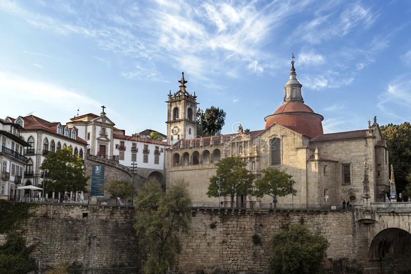 Αμαράντε - εκκλησία του Σάο Goncalo στοκ φωτογραφία