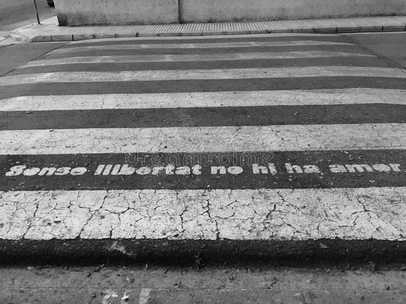 Αμαρτία libertad κανένα amor σανού στοκ φωτογραφία με δικαίωμα ελεύθερης χρήσης