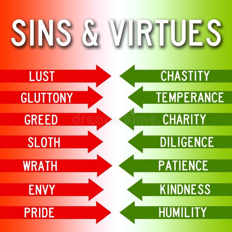 Αμαρτίες και αρετές απεικόνιση αποθεμάτων