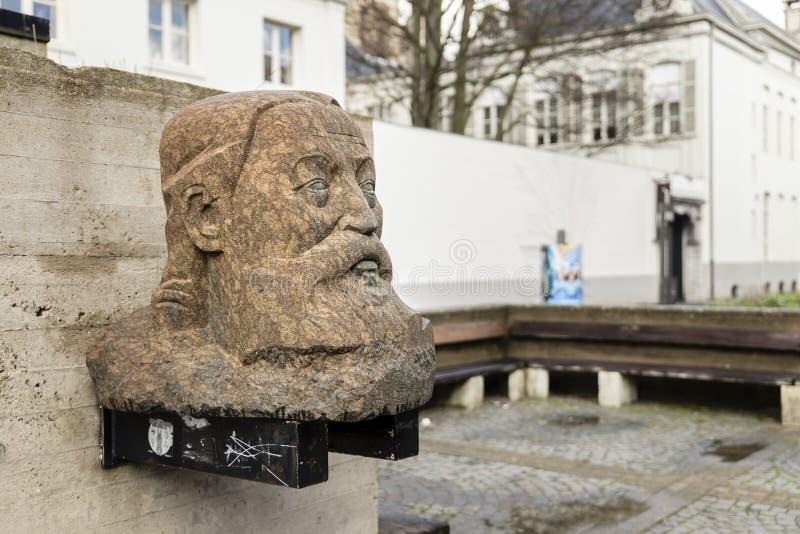Αμβέρσα, Βέλγιο - 17 Μαρτίου 2019: Μνημείο για το Peter Benoit, πλατεία Wapper στοκ φωτογραφίες