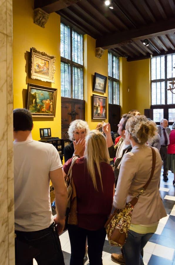 Αμβέρσα, Βέλγιο - 10 Μαΐου 2015: Επίσκεψη Rubenshuis τουριστών (σπίτι του Ruben) στην Αμβέρσα στοκ φωτογραφίες
