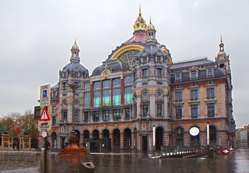 Αμβέρσα. Κεντρικός σιδηροδρομικός σταθμός. στοκ φωτογραφία με δικαίωμα ελεύθερης χρήσης