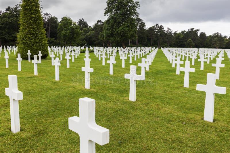 Αμερικανικά νεκροταφείο και μνημείο της Νορμανδίας στη Saint Laurent sur Mer στοκ εικόνα με δικαίωμα ελεύθερης χρήσης