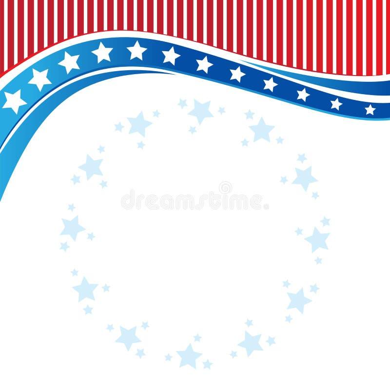 Αμερικανικά πατριωτικά σύνορα, υπόβαθρο, με τα αστέρια διανυσματική απεικόνιση