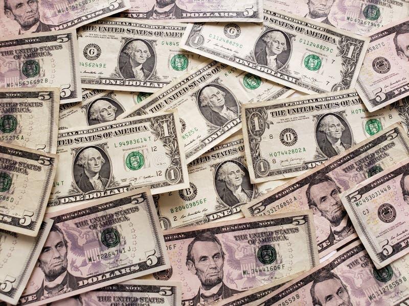 αμερικανικά τραπεζογραμμάτια δολαρίων ανοργάνωτα, υπόβαθρο και σύσταση στοκ φωτογραφία