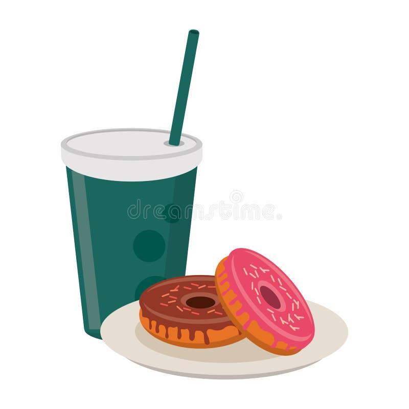 Αμερικανικά τρόφιμα προγευμάτων διανυσματική απεικόνιση