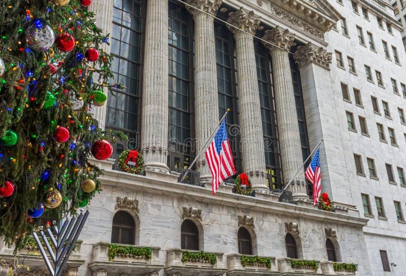 Αμερικανικά Χριστούγεννα στον τοίχο ST στοκ φωτογραφία με δικαίωμα ελεύθερης χρήσης