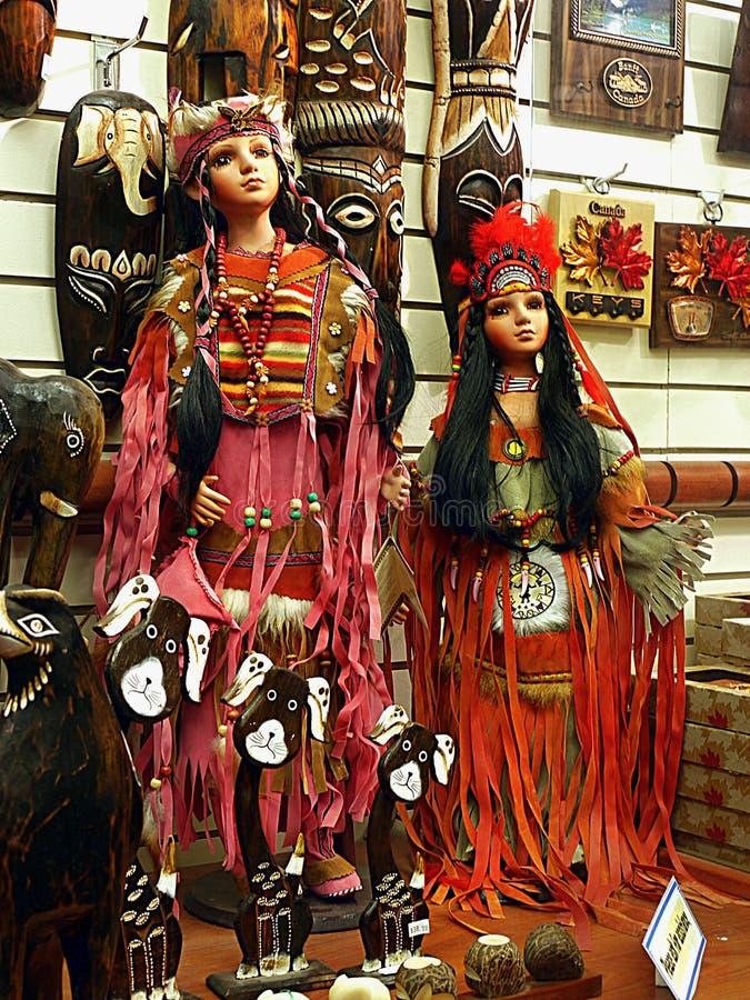 Αμερικανικές ινδικές κούκλες στοκ εικόνες