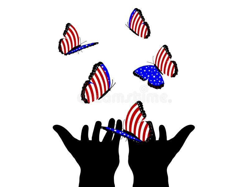 Αμερικανικές πεταλούδες ελεύθερη απεικόνιση δικαιώματος