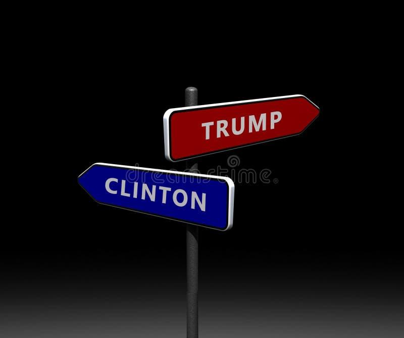 Αμερικανικές προεδρικές εκλογές 2016 απεικόνιση αποθεμάτων