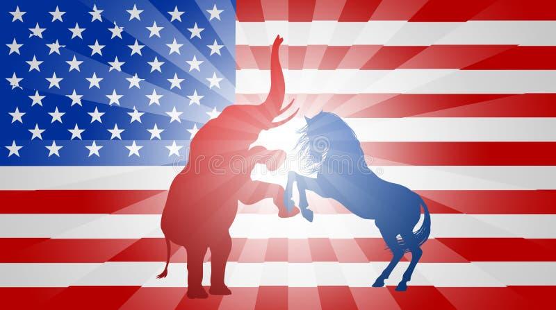 Αμερικανική έννοια σημαιών εκλογής διανυσματική απεικόνιση