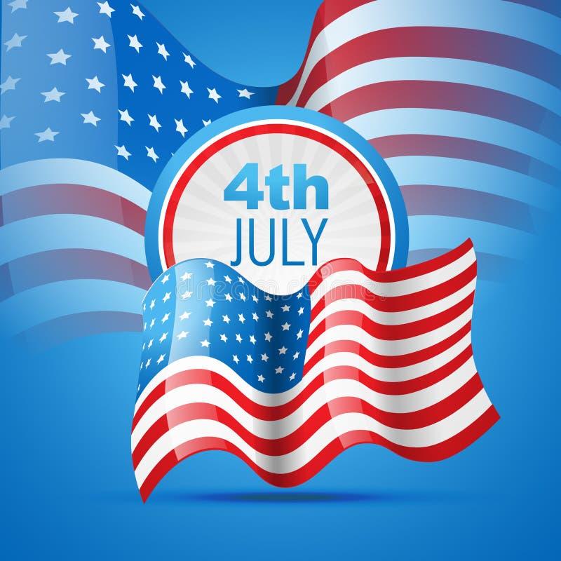 αμερικανική ανεξαρτησία ημέρας ελεύθερη απεικόνιση δικαιώματος