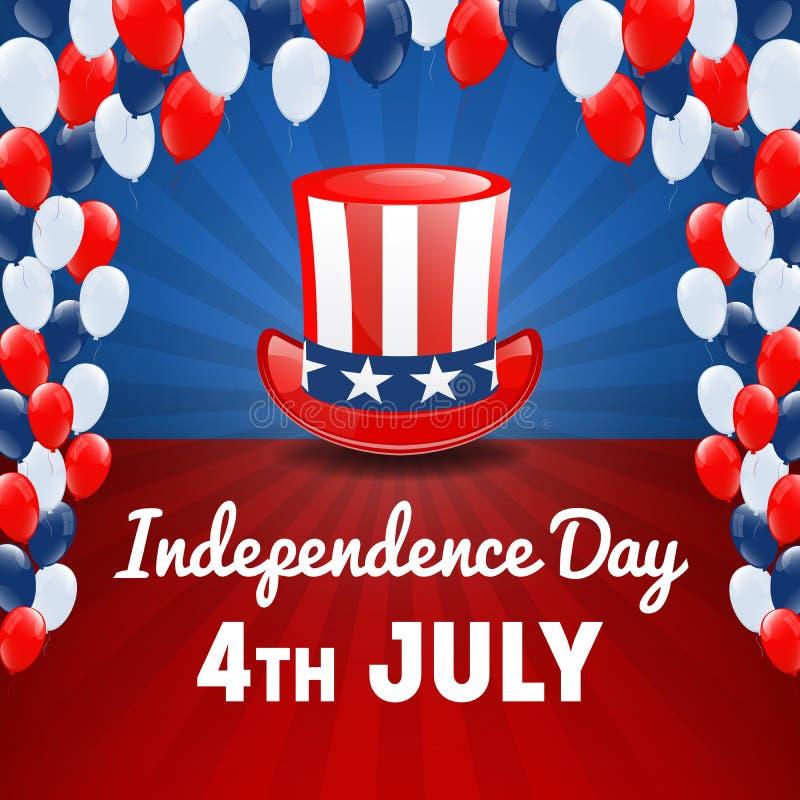 αμερικανική ανεξαρτησία &eta 4ος ΗΠΑ του υποβάθρου διακοπών Ιουλίου διανυσματική απεικόνιση