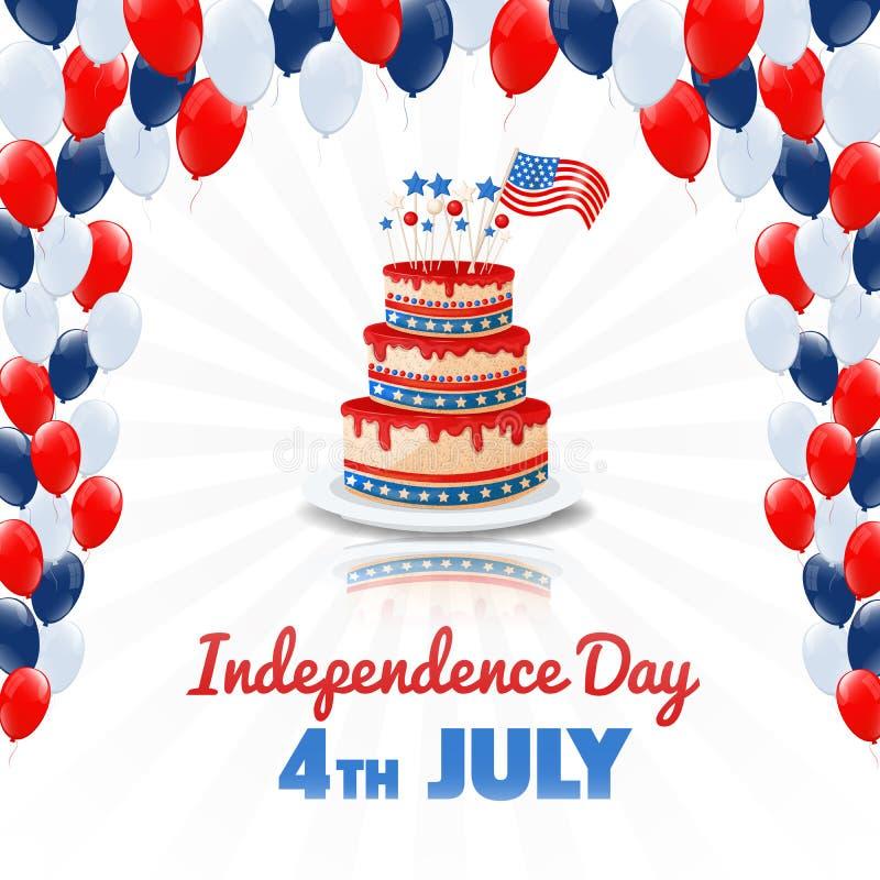 αμερικανική ανεξαρτησία &eta 4ος ΗΠΑ του υποβάθρου διακοπών Ιουλίου ελεύθερη απεικόνιση δικαιώματος