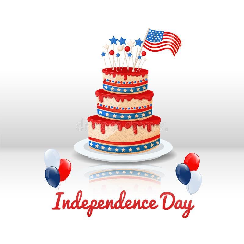 αμερικανική ανεξαρτησία &eta 4ος ΗΠΑ του υποβάθρου διακοπών Ιουλίου απεικόνιση αποθεμάτων