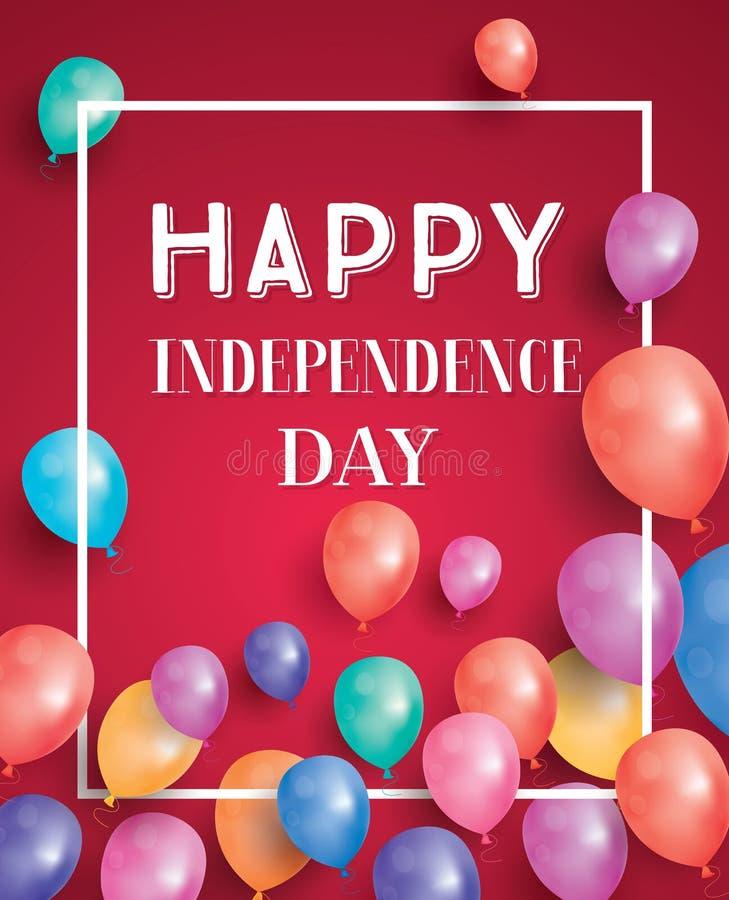 αμερικανική ανεξαρτησία &eta Υπόβαθρο με τα μπαλόνια για το χαιρετισμό απεικόνιση αποθεμάτων