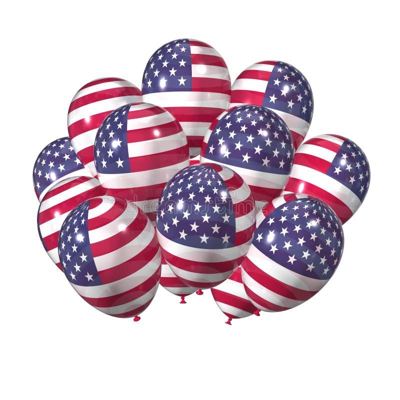 αμερικανική ανεξαρτησία &eta απεικόνιση αποθεμάτων