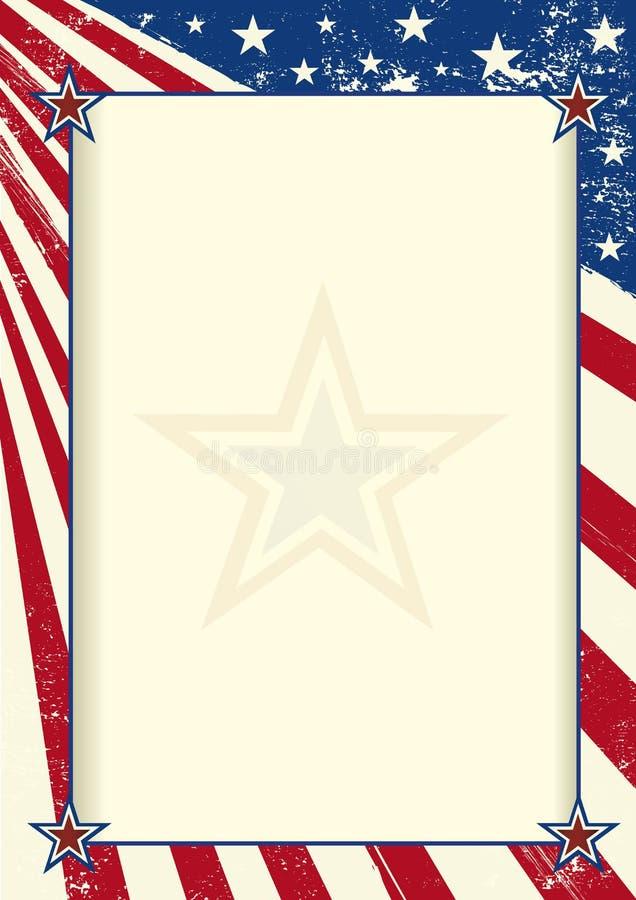 Αμερικανική αφίσα πλαισίων απεικόνιση αποθεμάτων