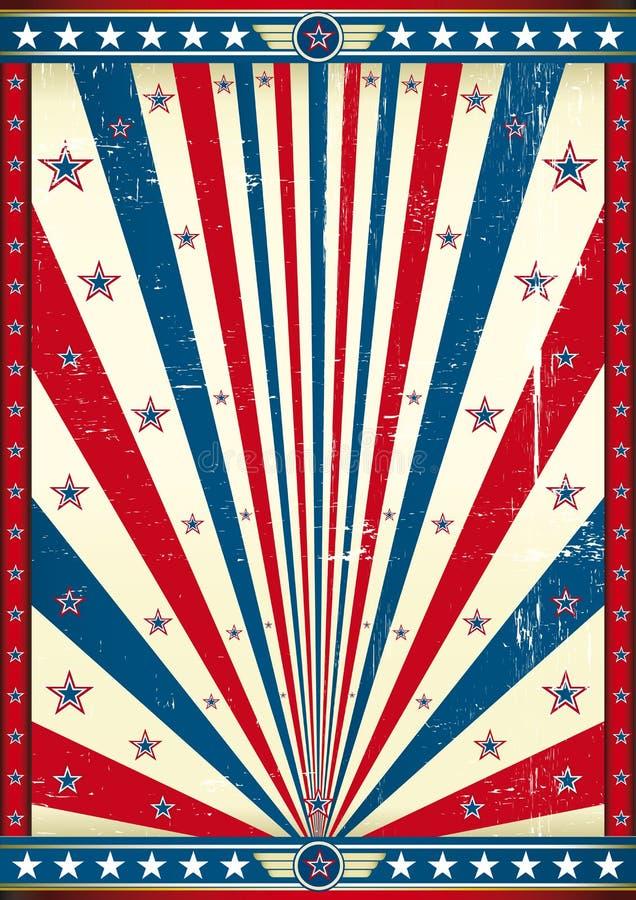 Αμερικανική αφίσα grunge στοκ εικόνες με δικαίωμα ελεύθερης χρήσης