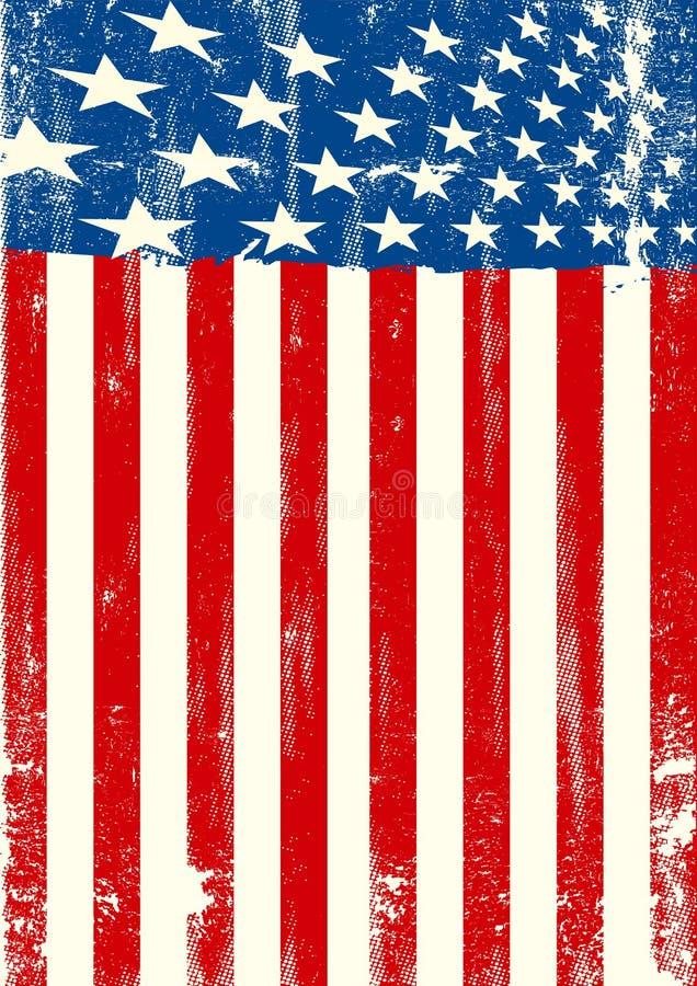 Αμερικανική βρώμικη σημαία απεικόνιση αποθεμάτων