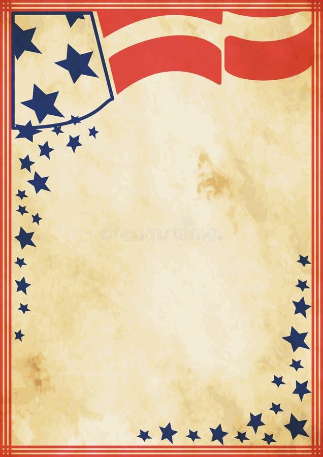 Αμερικανική εκλεκτής ποιότητας αφίσα Grunge διανυσματική απεικόνιση