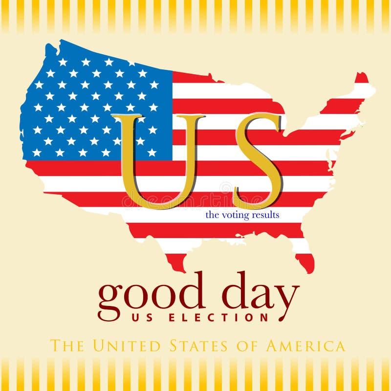 Αμερικανική εκλογή αποτελεσμάτων ψηφοφορίας καλημέρας ελεύθερη απεικόνιση δικαιώματος