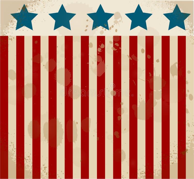 Αμερικανική ετικέτα ανεξαρτησία ημέρας ανασκόπησης grunge αναδρομική 4η Ιουλίου απεικόνιση αποθεμάτων