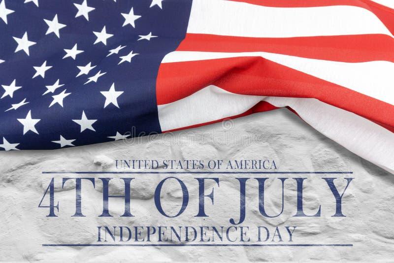 Αμερικανική ημέρα της ανεξαρτησίας, το τέταρτο του Ιουλίου στοκ εικόνα