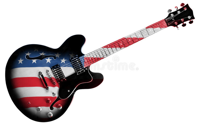 Αμερικανική κιθάρα στοκ φωτογραφίες με δικαίωμα ελεύθερης χρήσης