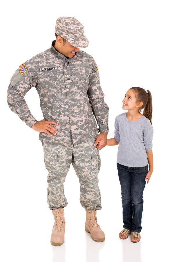 Αμερικανική κόρη στρατιωτικών στοκ εικόνες