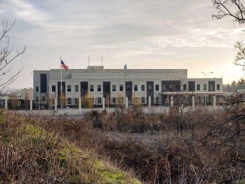 Αμερικανική πρεσβεία στοκ εικόνες