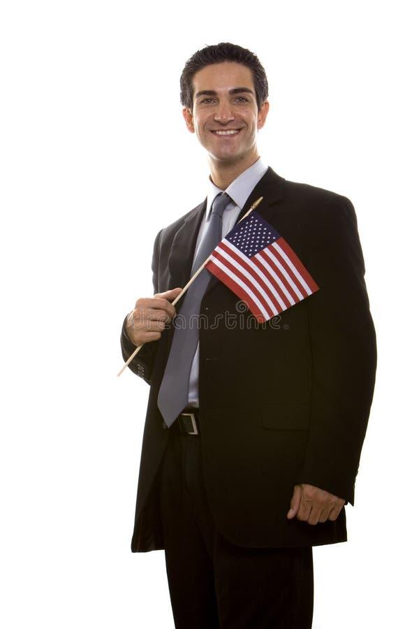 αμερικανική σημαία επιχειρηματιών στοκ εικόνες