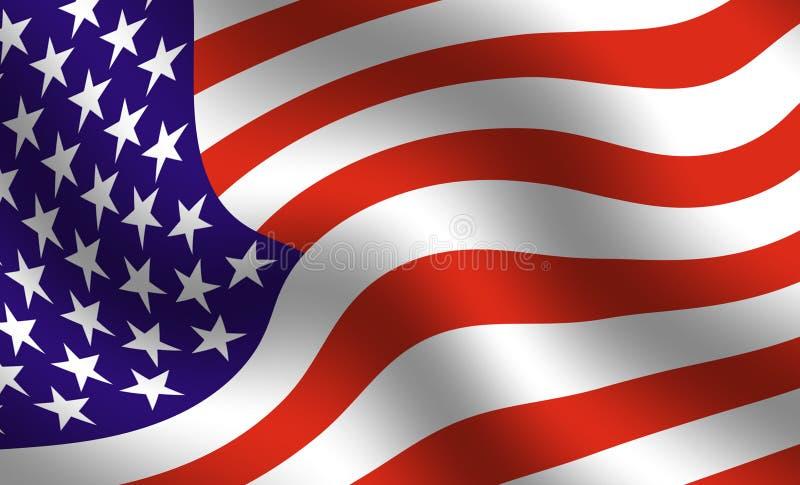 αμερικανική σημαία λεπτομέρειας διανυσματική απεικόνιση
